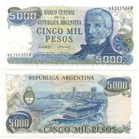Argentina - 5000 Pesos 1977 - 1983 UNC Pick 305b(2) Lemberg-Zp - Argentine