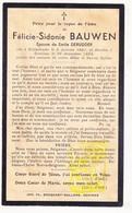 DP Félicie S. Bauwen ° Wijtschate Heuvelland 1867 † Comines Komen 1934 X Emile DeRudder - Images Religieuses