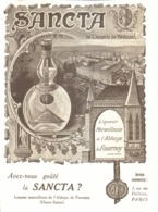 """PUB  LIQUEUR MERVEILLEUSE De L'ABBAYE De FAVERNEY  """" SANCTA """"  1921 ( 2 ) - Other"""