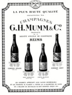 "PUB  CHAMPAGNE  "" G . H .MUMM & C° ""  1921  ( 1 ) - Champagne & Schuimwijn"