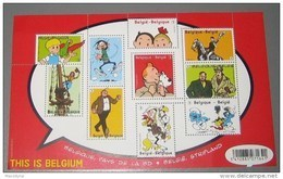 Blok 201** Bloc Tintin En Belgique, Pays De La BD** Kuifje In België, Stripland- This Is Belgium XX - Blocks & Sheetlets 1962-....