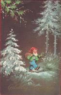 Kabouter Dwerg Gnome Gnom Lutin Zwerg Kobold Erdmännchen Duende Gnomo Gelukkig Nieuwjaar CPA - Contes, Fables & Légendes