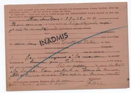 1941 - CARTE POSTALE ENTIER IRIS De NICE Pour PARIS -> INADMIS / RETOUR A L'ENVOYEUR - WW II