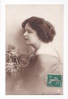 Jolie Jeune Fille, Belle Coiffure Victorienne, Fleurs, 1912, éd. GL Co 3703/4 - Femmes