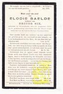 DP Elodie Baelde ° Wijtschate Heuvelland 1861 † 1928 X Hector Six - Images Religieuses