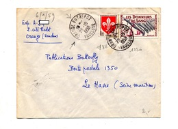 Lettre Cachet Orange Entrepot Sur Sang - Marcophilie (Lettres)
