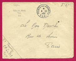 Enveloppe En Franchise Militaire - Poste Aux Armées - TOE - Secteur Postal 60 803 - Marcophilie (Lettres)