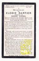 DP Elodie Bartier ° Wijtschate Heuvelland 1851 † 1927 X Désire Sohier - Images Religieuses