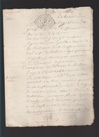 Bretagne / Sept 1736 / Duché De Rohan Siège à Pontivy / Vincent Quezo Recteur Paroisse Seglien - Cachets Généralité