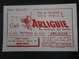 BUVARD - MONTARGIS - CYCLE ARLIGUIE - Buvards, Protège-cahiers Illustrés