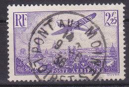France Poste Aérienne Avion Survolant Paris N° 10 Oblitéré - Poste Aérienne