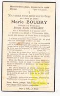 DP Marie Boudry ° Wijtschate Heuvelland 1867 † Le Bizet Ploegsteert 1938 X Joseph E. Desmarez - Images Religieuses