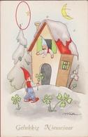 Kabouter Dwerg Gnome Gnom Lutin Zwerg Kobold Erdmännchen Duende Gnomo Gelukkig Nieuwjaar CPA Trefle - Contes, Fables & Légendes