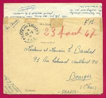 Correspondance En Franchise Militaire - Poste Aux Armées - TOE - Secteur Postal 70 259 - Marcophilie (Lettres)