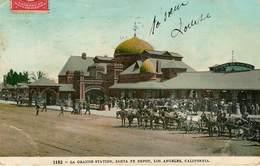 Etats-Unis - Attelage De Chevaux - California - Los Angeles - La Grande Station - Santa Fe Depot - état - Los Angeles