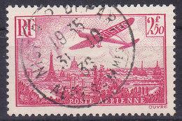 France Poste Aérienne Avion Survolant Paris N° 11 Oblitéré - Poste Aérienne