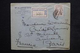 MEXIQUE - Enveloppe Commerciale En Recommandé De Mexico Pour La France En 1920 - L 24405 - Messico