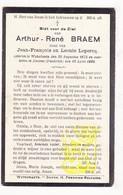 DP Im. Pieuse -  Arthur R. Braem / Lepercq ° Wijtschate Heuvelland BE 1875 † Amiens FR Somme 1928 - Images Religieuses
