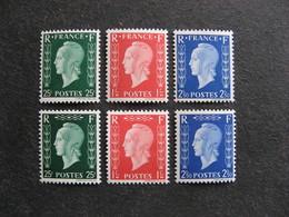 TB Série N° 701A Au N° 701F, Neufs XX. - Unused Stamps