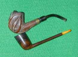 2 Pipes Anciennes Déjà Fumées Lot 4 - Heather Pipes