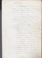 Marquis Rainulphe D'Osmond / Bail 1841 Domaine De Jouars Pontchartrain / Louis Monreau Régisseur - Old Paper