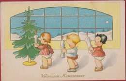Kerstboom Arbre De Noel Christmas Tree Joyeux Noel 1945 Fantasie Carte Fantaisie Kaart Kinderen Enfants Candle Kaars - Otros