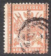 Transvaal 1885. HALVE PENNY On 3d Reading Up. SACC 193, SG 188. - Südafrika (...-1961)