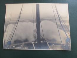 PHOTO  TRANSATLANTIQUE PAQUEBOT   CHERBOURG CALAIS LE HAVRE BATEAU 23 X16  CM ENVIRONS SS DE GRASSE - Barche