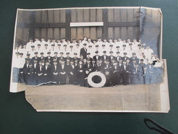 PHOTO  TRANSATLANTIQUE PAQUEBOT   CHERBOURG CALAIS LE HAVRE BATEAU 23 X 16  CM ENVIRONS SS DE GRASSE - Barche