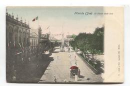 Merida, Mexico (Yuo) - El Zocalo (lado Sur) - Street Scene - Early Postcard, Undivided Back - Mexiko