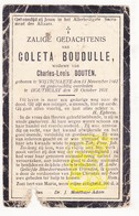 DP Coleta Boudulle ° Wijtschate Heuvelland 1842 † Houthulst 1921 X Charles L. Bouten - Images Religieuses