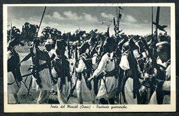 CV2527 COLONIALI ERITREA 1935 Festa Del Mascàl (Croce) Fantasie Guerresche, FP, Affrancata Con Soggetti Africani L. 1 + - Erythrée