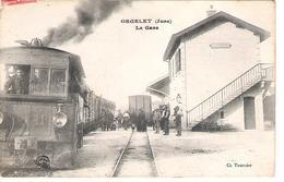 39 - ORGELET : LA GARE . TRAINS  . - Orgelet