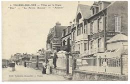 """14-VILLERS-SUR-MER-Villas Sur La Digue """"PILL, LA PETITE BARQUE Et MEDICIS""""...  Animé - Villers Sur Mer"""
