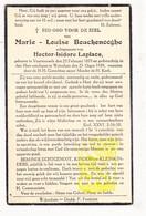 DP Marie L. Bouckenooghe ° Voormezele Ieper 1879 † Wijtschate Heuvelland 1939 X Hector I. Laplace - Images Religieuses