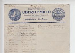 """ITALIA -  Sartoria  """"UBERTI EMILIO"""" - Mantova - Fabbriche E Imprese"""