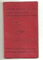 """2885 """"STRADE FERRATE SECONDARIE MERIDIONALI-TESSERA DI RICONOSCIMENTO PER ABBONATO-1943-DEL GIUDICE ELENA """" DOC. ORIG. - Railway"""