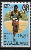 SWAZILAND   N°  254  * *  Jo 1976  Course Marathon - Atletica