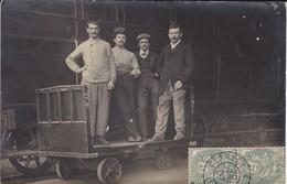 Carte-photo--58----CLAMECY à PARIS   1907---S.N.C.F.---wagons, Chariot, Groupe D'hommes--voir 2 Scans - Clamecy