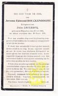 DP Jerome Edm. Bouckenooghe 28j. ° Wijtschate Heuvelland 1906 † 1935 X Julia Leclercq - Images Religieuses