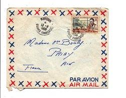 AOF LETTRE DE KINDIA GUINEE POUR LA FRANCE 1956 - A.O.F. (1934-1959)