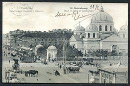 CARTOLINA CV2514 RUSSIA S. Pietroburgo 1905 Piazza E Chiesa Di Znamensky, FP, Viaggiata Per L'Italia, Buone Condizioni - Russia