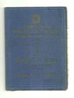 """2886 """"PATENTE DI GUIDA VALIDA FINO AL 30/4/81 - CON MARCHE"""" DOC. ORIG. - Automobili"""