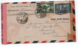1945- ENVELOPPE De NOUMEA (NOUVELLE CALEDONIE) Pour ANNONAY Avec CENSURE - FRANCE LIBRE - Nueva Caledonia