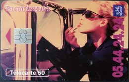 Telefonkarte Frankreich - Werbung - Peugeot Assistance - 50 Units - 07/94 - Frankreich