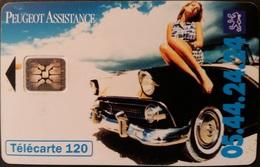 Telefonkarte Frankreich - Werbung - Peugeot Assistance - 120 Units - 07/94 - Frankreich