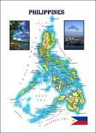 Philippines Country Map New Postcard - Filipinas