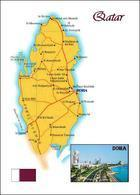 Qatar Country Map New Postcard - Qatar