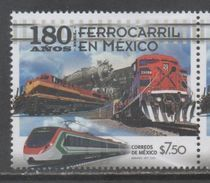 MEXICO, 2017, MNH, TRAINS , 180 YEARS OF TRAINS IN MEXICO, 1v - Trains