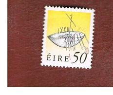 IRLANDA (IRELAND) -  SG 761   -  1990  IRISH HERITAGE: BROIGHTER  BOAT 50   -   USED - 1949-... Repubblica D'Irlanda